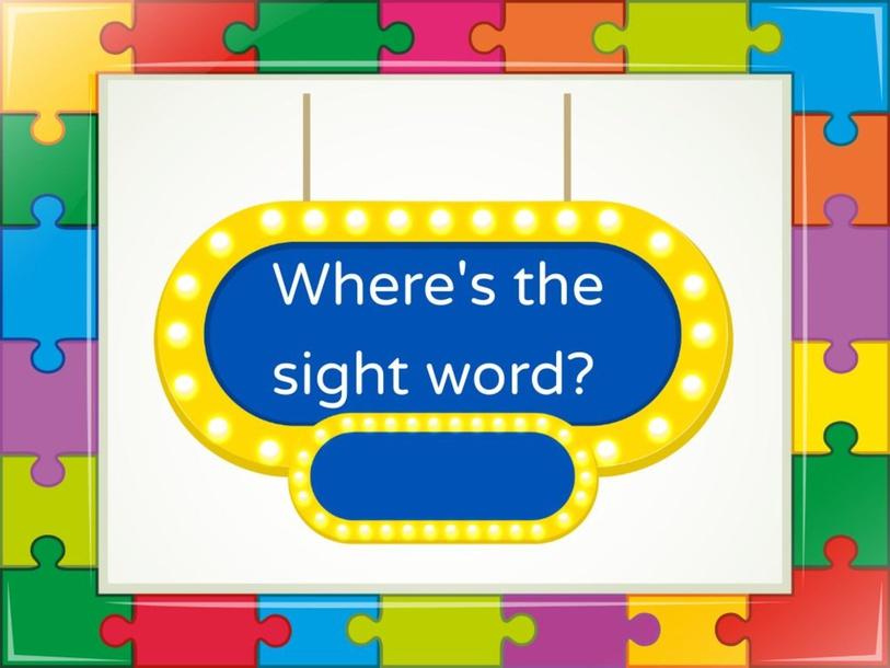Sight Words Unit 5 by Marcela Palacio