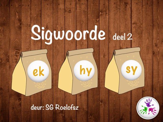 Sigwoorde deel 2 by Susan Roelofsz