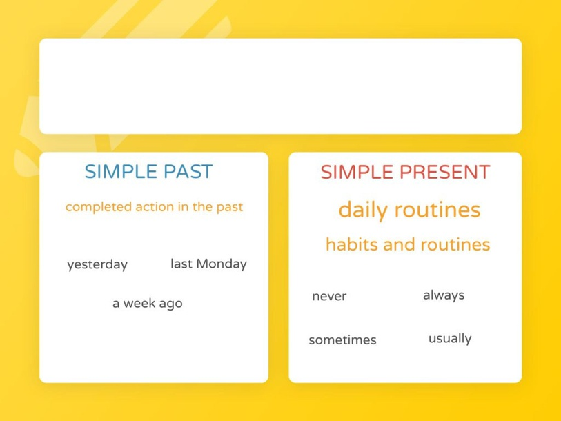 Simple Present VS Simple Past by Kate Dickson