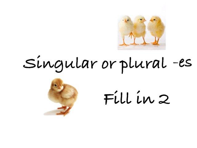 Singular Or Plural -es 2 by Madonna Nilsen