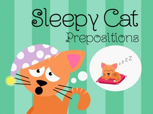 Sleepy Cat Prepositions  by Tiny Tap