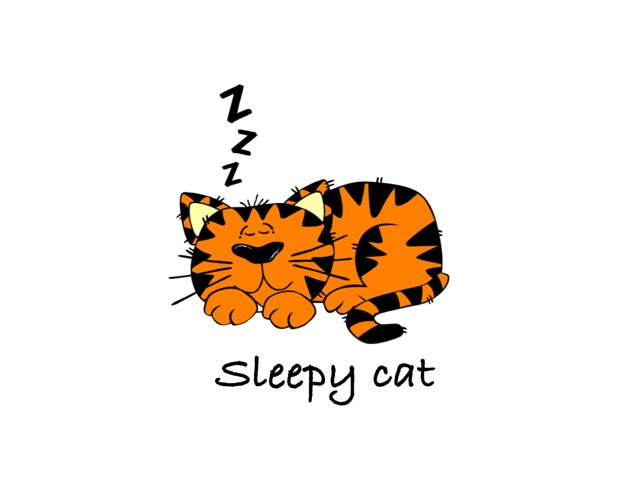 Sleepy Cat by Amad meri