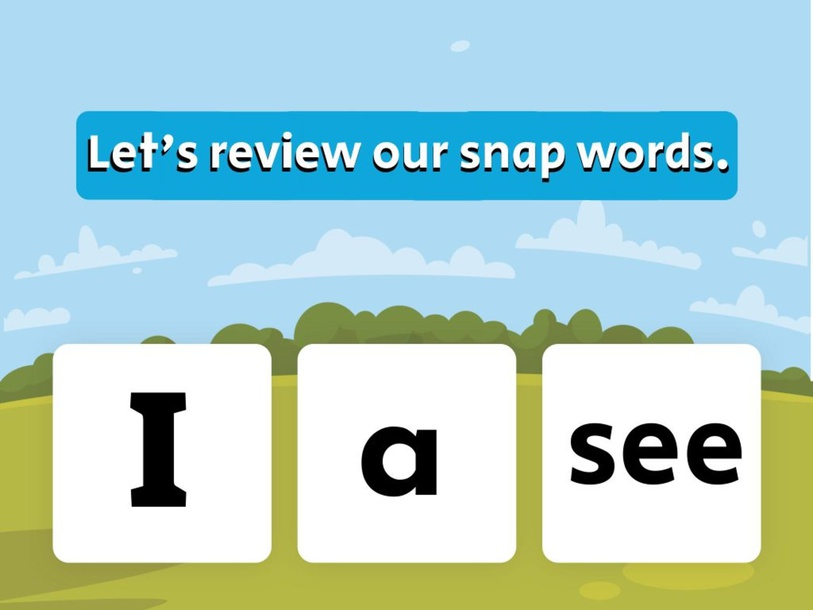 Snap Word (I, a, see) by evelyn navarro