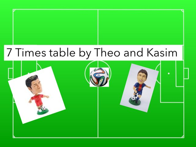 Soccer 7 Times  Table by Sarah Pickles