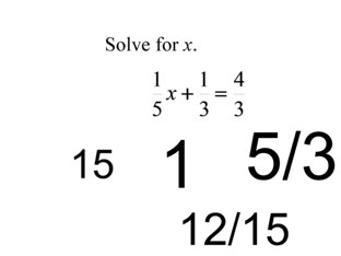 Solve Equations With Fractions by Gloria Riley
