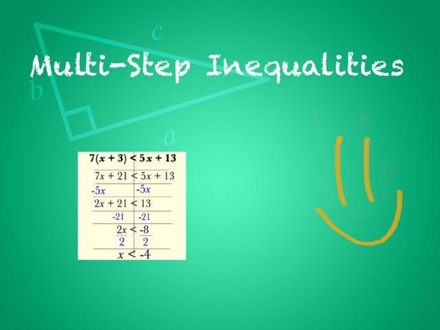 Solving Inequalities  by Melissa  Perez