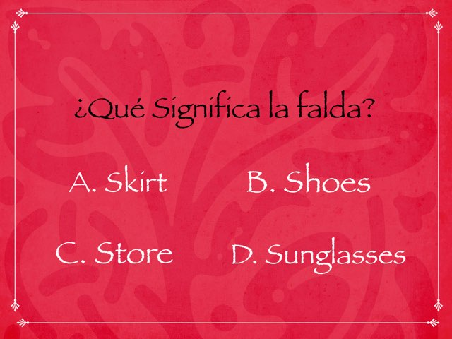 Spanish Clothes Questions by Krissy Matthews