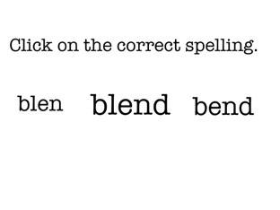 Spelling Blend Words by Kerry Wode