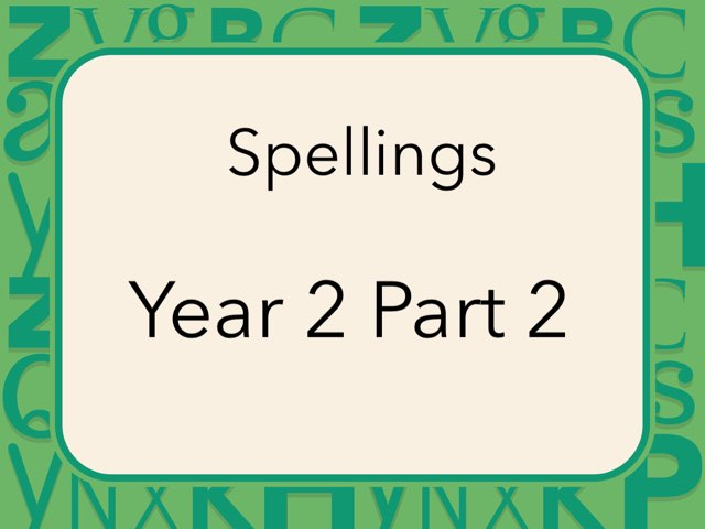 Spellings Year 2 Part 2 by Heather Cooper
