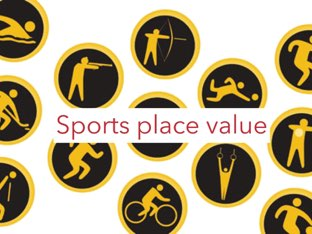 Sports Place Value by Sarah Pickles