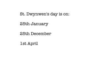 St Dwynwen's Day by Karla Williams