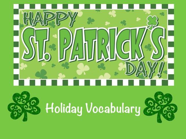 St Patrick's Day Vocabulary ID by Erica Lynn