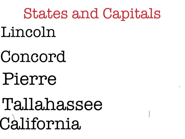 States And Capitals by Heathee Callihan