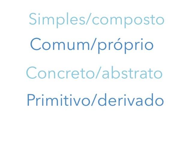 Substantivos by Gabriela Menache
