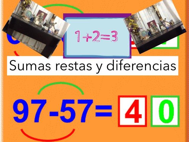 Sumas Restas Y Diferencias by Joshua Ortiz Zuluaga