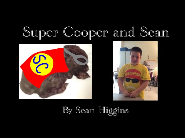 Super Cooper and Sean by Melissa Piazza