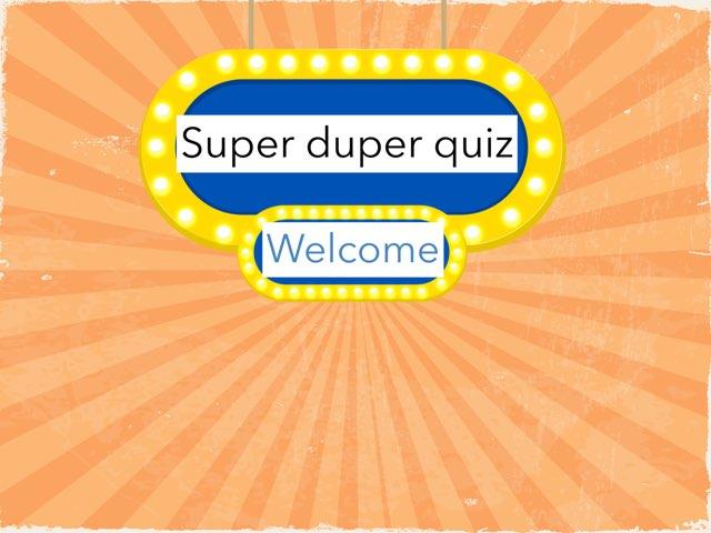 Super duper Quiz by Vanja antić