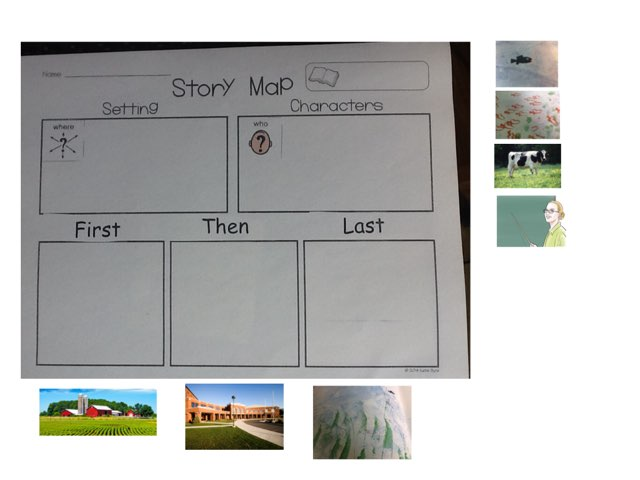 Swimmy Story Map by Emily Grimes