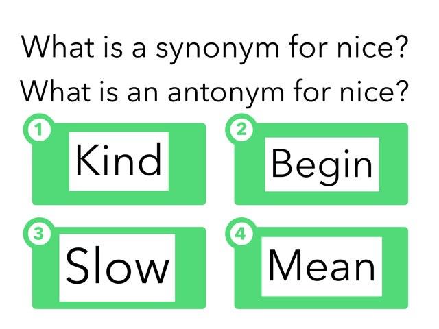 Synonym And Antonym by Hali Bernstein