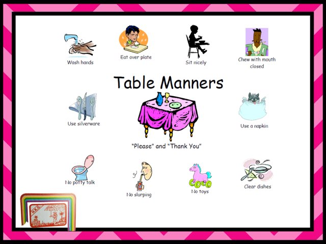TABLE MANNERS by TinyTap creator