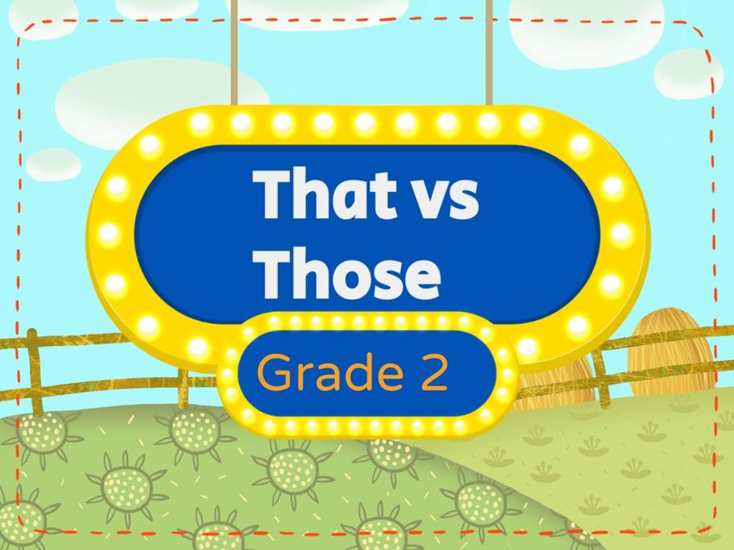 THAT vs THOSE by Donnah Rose Canonoy