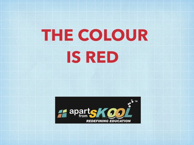 THE COLOUR IS RED by TinyTap creator