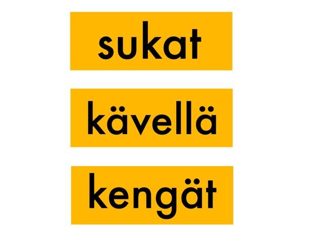 TVOLUKI: Tunnista verbi by Kaijaeija Kaijaeija