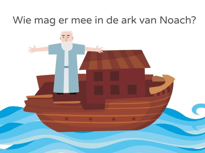 Taal: Woordenschat: Wie mag er mee in de ark met Noach by Frouke Taillieu