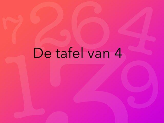 Tafel Van 4 eske by Thea Metz