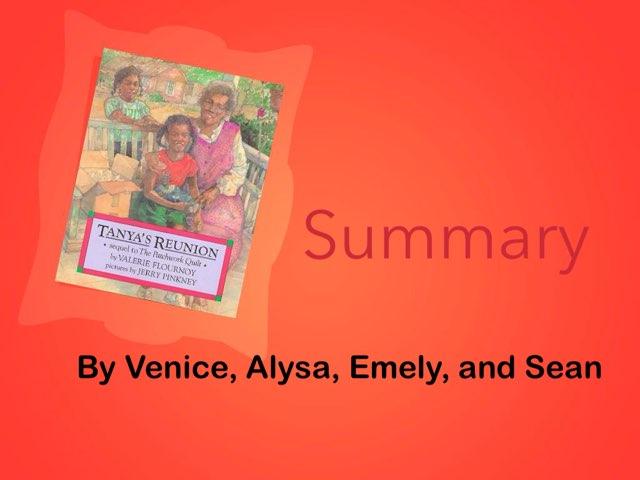 Tanya's Reunion Summary by Maxine Axel