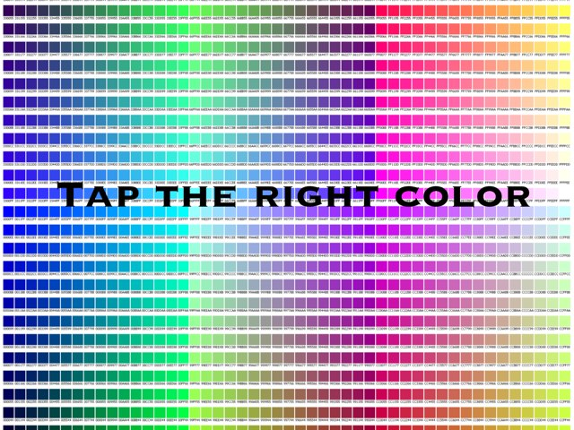 Tap The Right Color by Emilie Melnyk