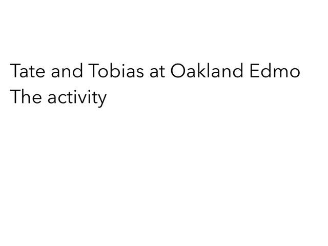 Tate And Tobias Game by Edventure More -  Conrad Guevara
