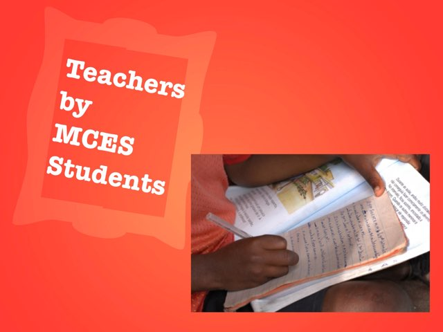 Teachers by MCES Students by Christine Snow