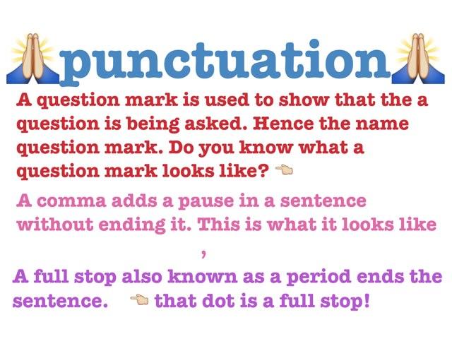 Tegana And Maddicrenie Punctuation Game by Tegan Maddie