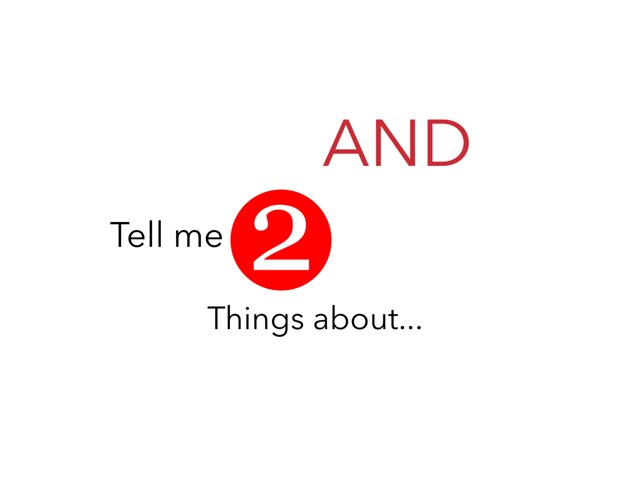 Tell Me Two Things About.... by Caren Rothstein
