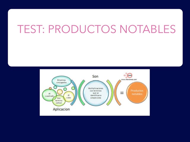 Test: Productos Notables by Fátima Widman