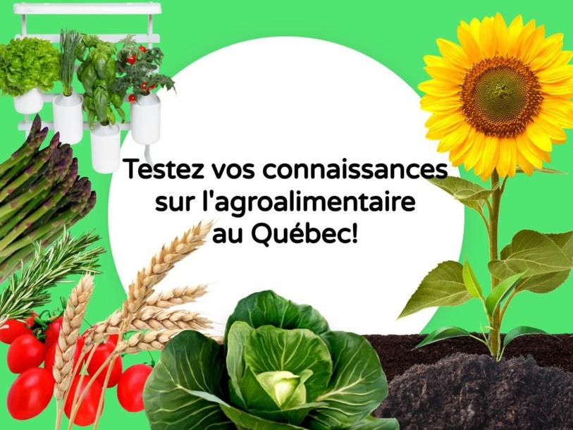Testez vos connaissances sur l'agroalimentaire au Québec! by SAAC FSAA Université Laval