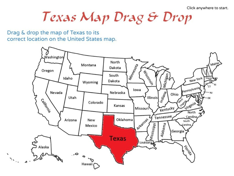 Texas Map Drag and Drop by Julio Pacheco