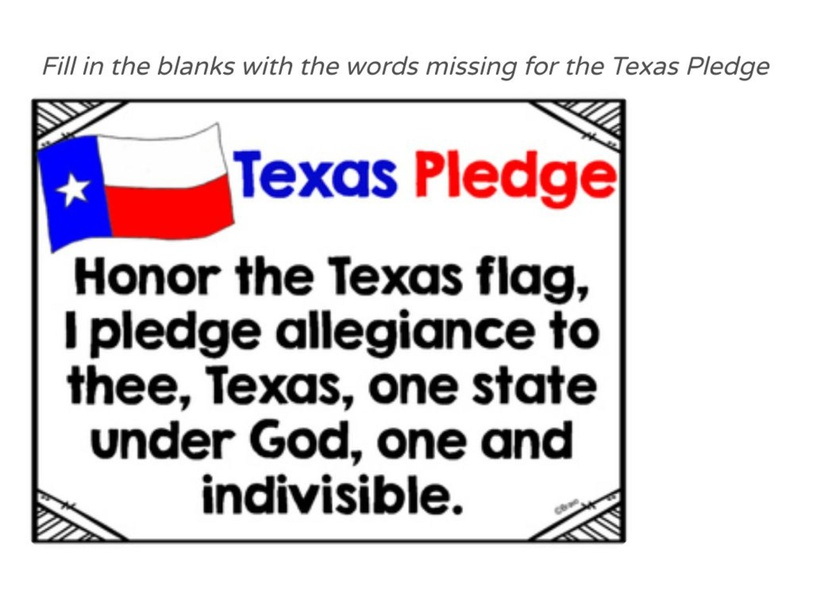 Texas Pledge by Julio Pacheco
