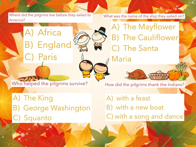 Thanksgiving Questions by Rebecca Sackrider