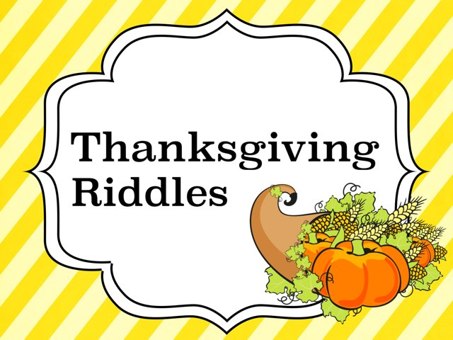 Thanksgiving Riddles by Leslie Burke