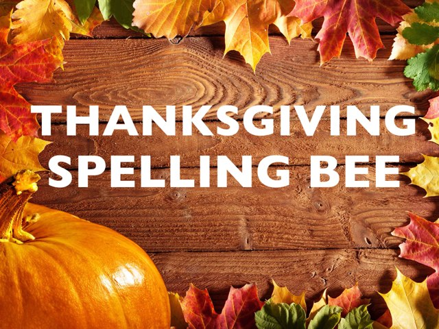 Thanksgiving Spelling Bee by Leslie Burke