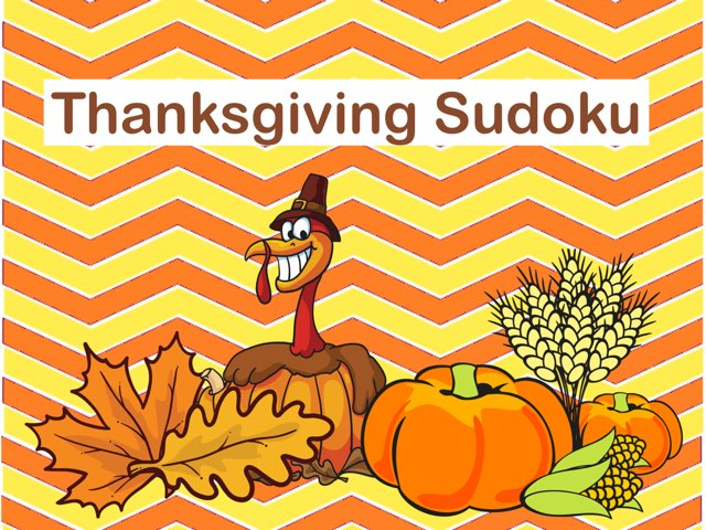 Thanksgiving Sudoku by Ellen Weber