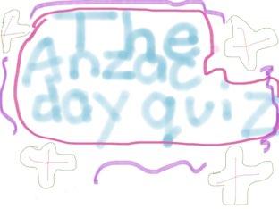 The Anzac Day Quiz by Nazeefah  tahseen