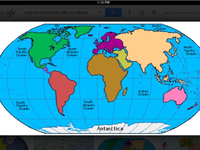 The Continents by Frazzled Teacher