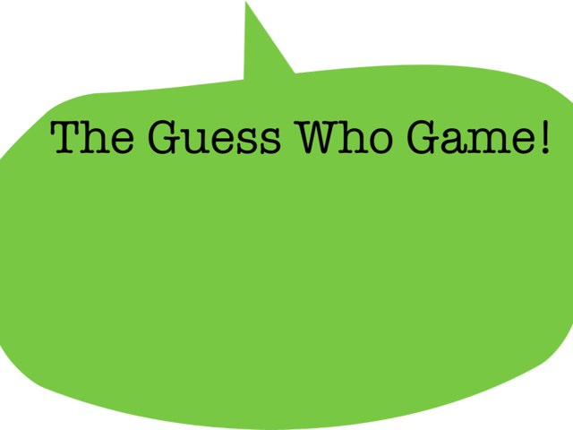 The Guess Who Game by Jay Townsend