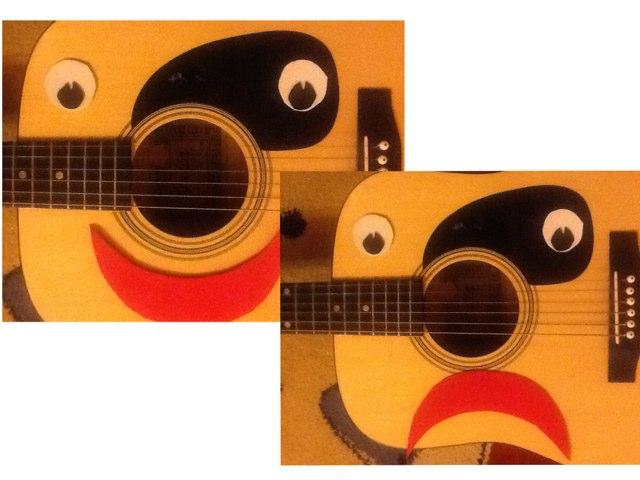 The Guitar's Face by Barbi Bujtas