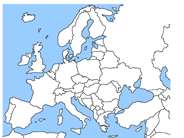 The Map Of Europe  by Dominic  Hashem