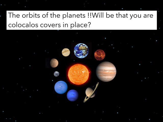 The Orbits Of The Planets by Marcelle miranda