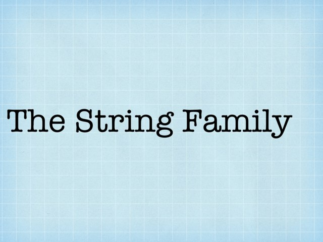 The String Family by Kim Hardy